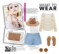 """""""Beige Lace Blouse"""" by nermina-okanovic ❤ liked on Polyvore featuring Forever 21, Ally Fashion, Billabong, Neiman Marcus and shein"""