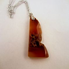Carnelian Agate Pendant by MountainManCreations on Etsy