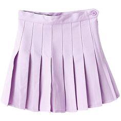 Purple Pleated Mini Skirt (79 PLN) ❤ liked on Polyvore featuring skirts, mini skirts, bottoms, purple skirt, purple pleated skirt, short purple skirt, short skirts and pleated miniskirt