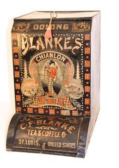 C. F. Blanke Tea & Coffee Co, Oolong Tea General Store Bin, St. Louis, MO.  Circa 1900