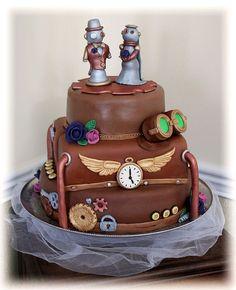Steampunk Wedding Cake Toppers | Steampunk Wedding