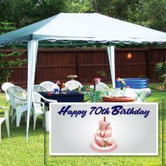 VictoryStore Yard Sign Outdoor Lawn Decorations: Happy Birthday Cake 2 feet X 4 feet Vinyl Banner 90th Birthday Cakes, Happy 20th Birthday, Happy 40th, Custom Birthday Banners, Vinyl Banners, Design, Cake Banner, Amazon, Marker