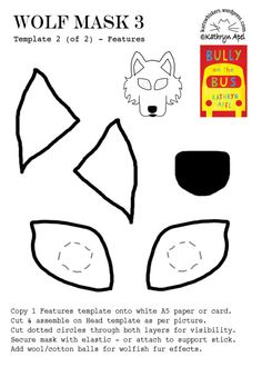 Bully on the Bus Stuff « Kathryn Apel Wolf Mask, Teacher Notes, Birthday Party Themes, Bullying, Novels, Templates, Activities, Party Ideas, Clothes
