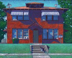 """""""Fourplex"""" 11 by 14inches acrylic on canvas Ro2 Art, Dallas, TX"""