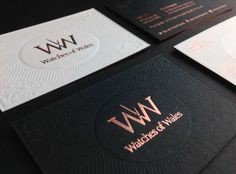 Luxury Business Card Design ● Watches Of Wales Foil Business Cards, Luxury Business Cards, Business Card Design Inspiration, Business Ideas, Modern Family Rooms, Bakery Logo Design, Entertainment Logo, Bath And Beyond Coupon, Tv Decor