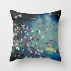 """Awesome photography on a pillow?  That would be a """"yes, please!""""    Monet's Dream Throw Pillow Cover $20"""