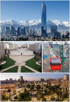Santiago de Chile - Wikipedia, la enciclopedia libre Gaston, Marina Bay Sands, South America, Modern Architecture, Skyscraper, Cruise, Cityscapes, Country, World