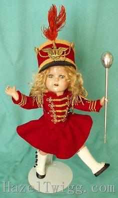 Marjorie the Majorette vintage composition doll on Ruth's Cork Board
