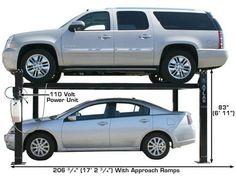 XH-PRO8000-72 Four Post Lift, Metal Working Tools, Garage, Stuff To Buy, Carport Garage, Garages, Car Garage, Carriage House