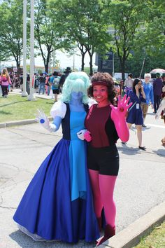 Our Ruby and Sapphire costumes from Anime North 2016! Which basically got me off my butt to make this blog because I'm so in love with how they turned out. Can't wait to get a proper photoshoot done....