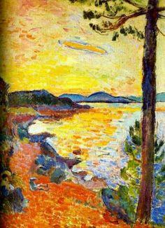 1904 Henri Matisse - The Gulf of Saint Tropez hr - Kunstsammlung Nordrhein-Westfalen, Dusseldorf Henri Matisse, Matisse Art, Manet, Art Fauvisme, Renoir, Matisse Paintings, Raoul Dufy, Post Impressionism, Art Plastique