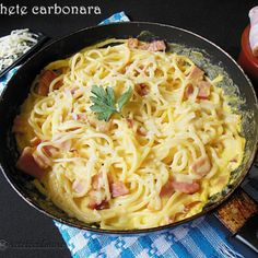 Noodle Recipes, Pasta Recipes, Cooking Recipes, Healthy Tips, Healthy Recipes, Healthy Food, Pasta Carbonara, Romanian Food, Yummy Food