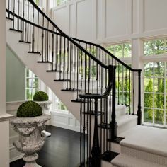 Interior Wrought Iron Stair Railing Design Ideas, Pictures, Remodel, and Decor - page 15