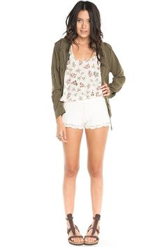Brandy ♥ Melville | Lace Crochet Shorts
