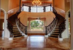 Double Staircase Foyer | Home Value Finder