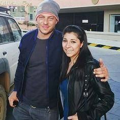Tom Wlaschiha with a fan in Bolivia! I love this picture, I like the style of the picture maybe the smile…! :)