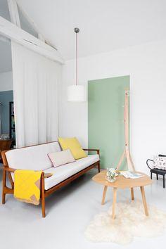 Ein Schicker MINT Farbener Streifen An Der Wand. Die Alternative Zu  Streichen. #