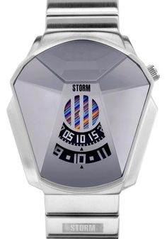 Storm Darth Mirror Watch -This Special Edition jump hour watch features a 3 disc hand functions (hour/minutes - printed digital, seconds - colored stripes behind grating) and is water resistant to 50m.  Comes complete with a Special Edition presentation box and certificate.     The Coolest Watches from Watchismo.com