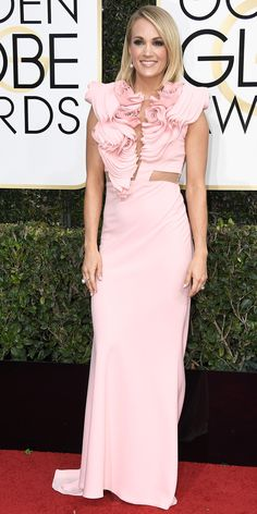 All the Glamorous Looks from the 2017 Golden Globes Red Carpet - Carrie Underwood  from InStyle.com