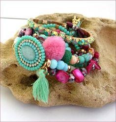 boho charms tassel woman bracelet Bracelet-Manchette Bracelets, Turquoise Bracelet, Tassels, Charms, Boho, Woman, Etsy, Jewelry, Fashion