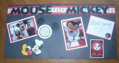 Disney Scrapbook pages - like the plate and autograph