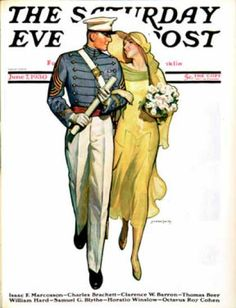 Saturday Evening Post - 1930-06-07: Military Grad and Girl (McClelland Barclay)