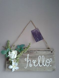 Rustic Welcome Pallet Sign by TeeCeeSigns on Etsy, $10.00