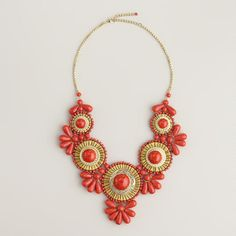 Coral Statement Necklace at Cost Plus World Market >> #WorldMarket Mother's Day