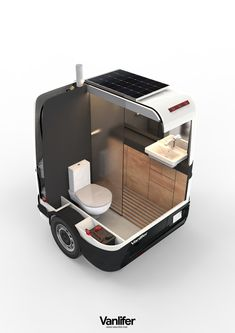 A proper shower and toilet - complete with total privacy - are luxuries few camper vans or motorhomes can boast. But here at Vanlifer, we've designed the solution - read on to find out about the Towable Bathroom. Custom Camper Vans, Custom Campers, Vw California T6, Camping Accesorios, Vw T3 Doka, Portable Bathroom, Materiel Camping, Kombi Home, Van Home