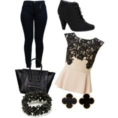 Darkest Dark-Zarah Palmer by zpalmer2015 on Polyvore featuring polyvore, fashion, style, Lipsy, Armani Jeans, Call it SPRING and Van Cleef & Arpels