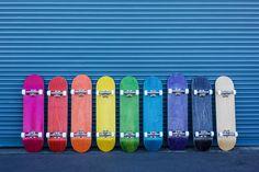 Learn to skateboard! Complete Skateboards, Skateboard Decks, Color, Skateboards, Skate Board, Colour, Colors