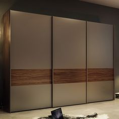 Multi-Forma II Sliding Wardrobe - Hulsta: MULTI-FORMA II sliding door wardrobes effortlessly fit in with sophisticated interior design ideas. Fitted Wardrobe Doors, Wardrobe Design Bedroom, Bedroom Bed Design, Bedroom Furniture Design, Bedroom Wardrobe, Glass Wardrobe, Room Door Design, Door Design Interior, Modern Wardrobe