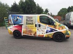 Full printed custom for Glass Butter Beach & contra-vision windows. Vehicle Signage, Digital Revolution, Van Wrap, Sign Writing, Vehicle Wraps, Panel, Maya, Butter, Windows