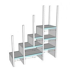 Bunk Bed Storage Stairs, this link has all you need to make your own.