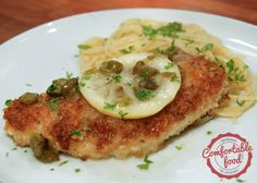 comfortable food - zesty chicken piccata recipe