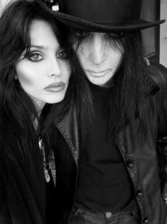 Mick Mars and his girlfriend since 2007 Fai McNasty
