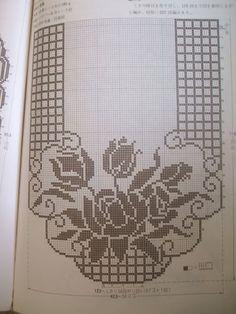 CAMINHOS ARQUIVOS DA CASA DAS AMIGAS - Claudete Ferraz - Picasa Web Albums Crochet Table Runner Pattern, Crochet Doily Patterns, Crochet Borders, Crochet Tablecloth, Crochet Motif, Crochet Designs, Crochet Doilies, Crochet Stitches, Filet Crochet Charts
