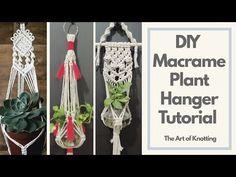 Macrame Plant Hangers, Macrame Tutorial, Macrame Knots, Weaving, Youtube, Plants, Loom Weaving, Plant, Crocheting