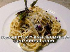 Spaghetti schmecken groß und klein, die vegetarischen Spaghetti mit Basilikumpest siond ganz schnell zubereitet und ein herrlich geschmackvolles Nudelgericht Spaghetti, Ethnic Recipes, Eating Well, Pasta Meals, Easy Meals, Noodle