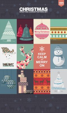 Christmas Cards and Posters by Alex Zeppelin, via Behance