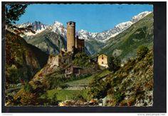 """Italien - P4906 """" vallee d' AOSTE pittoresque """" LA SALLE - IL CASTELLO DI CHATELARD - CASTLE, CHATEAU, SCHLOSS - VIAGGIATA"""