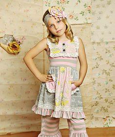 Look at this #zulilyfind! Sweet Pink Scrappy Ramona Dress - Toddler & Girls #zulilyfinds