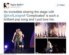 Taylor Swift and Avril Lavigne perform duet on 1989 Tour after fans sparked online 'feud'