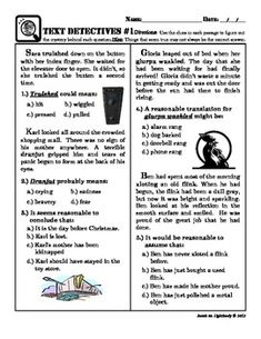 context clues--Fun(ish) Multiple Choice Text Evidence Worsheet With Nonse