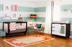 Babyletto Hudson changer dresser and 3-in-1 convertible crib from Target. Espresso and White or all Espresso