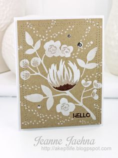 A Kept Life: Tupelo Designs - Flourish Hello