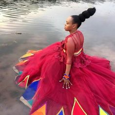 African bride Zulu Traditional Attire, African Traditional Wear, African Traditional Wedding Dress, Traditional Wedding Attire, African Wedding Dress, African Weddings, Traditional Dresses, African Wear, African Women