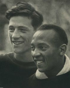 Carl Ludwig Long & Jesse Owens. F- you, Hitler!