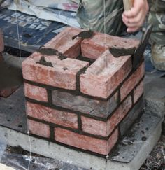 Brick Columns Driveway, Driveway Design, Building A Brick Wall, Brick In The Wall, Ponds Backyard, Backyard Patio, Farm Entrance, Pergola, Framing Construction