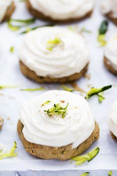 Zucchini Cookies with Brown Butter Cream Cheese Frosting | Creme de la Crumb